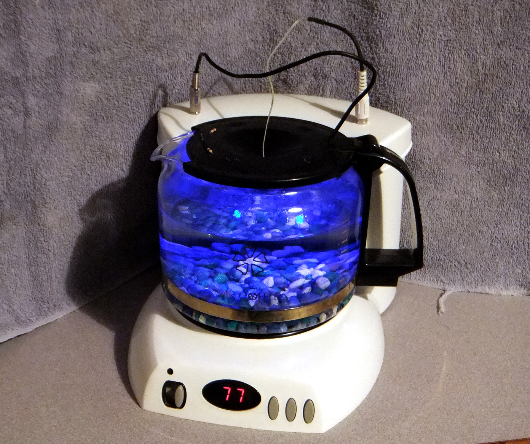 Robot Division Coffee Pot Fish Tank